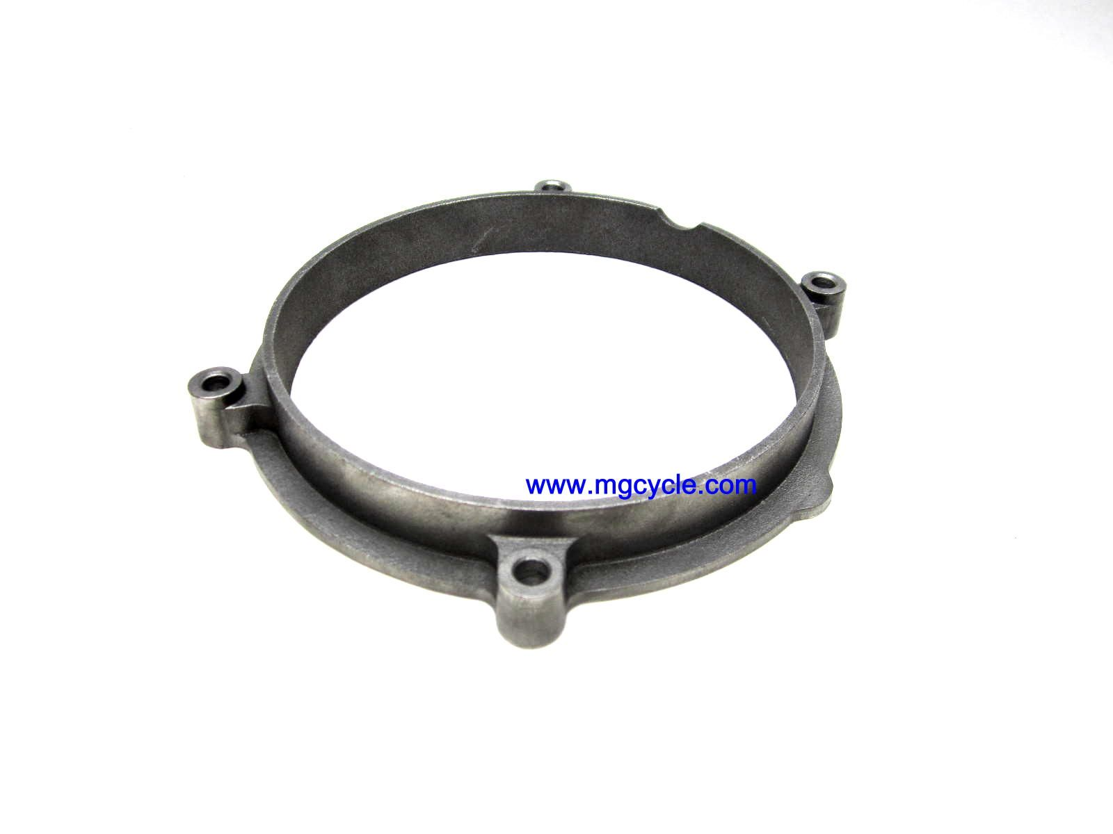 cast aluminum ventilation spacer for alternator cover