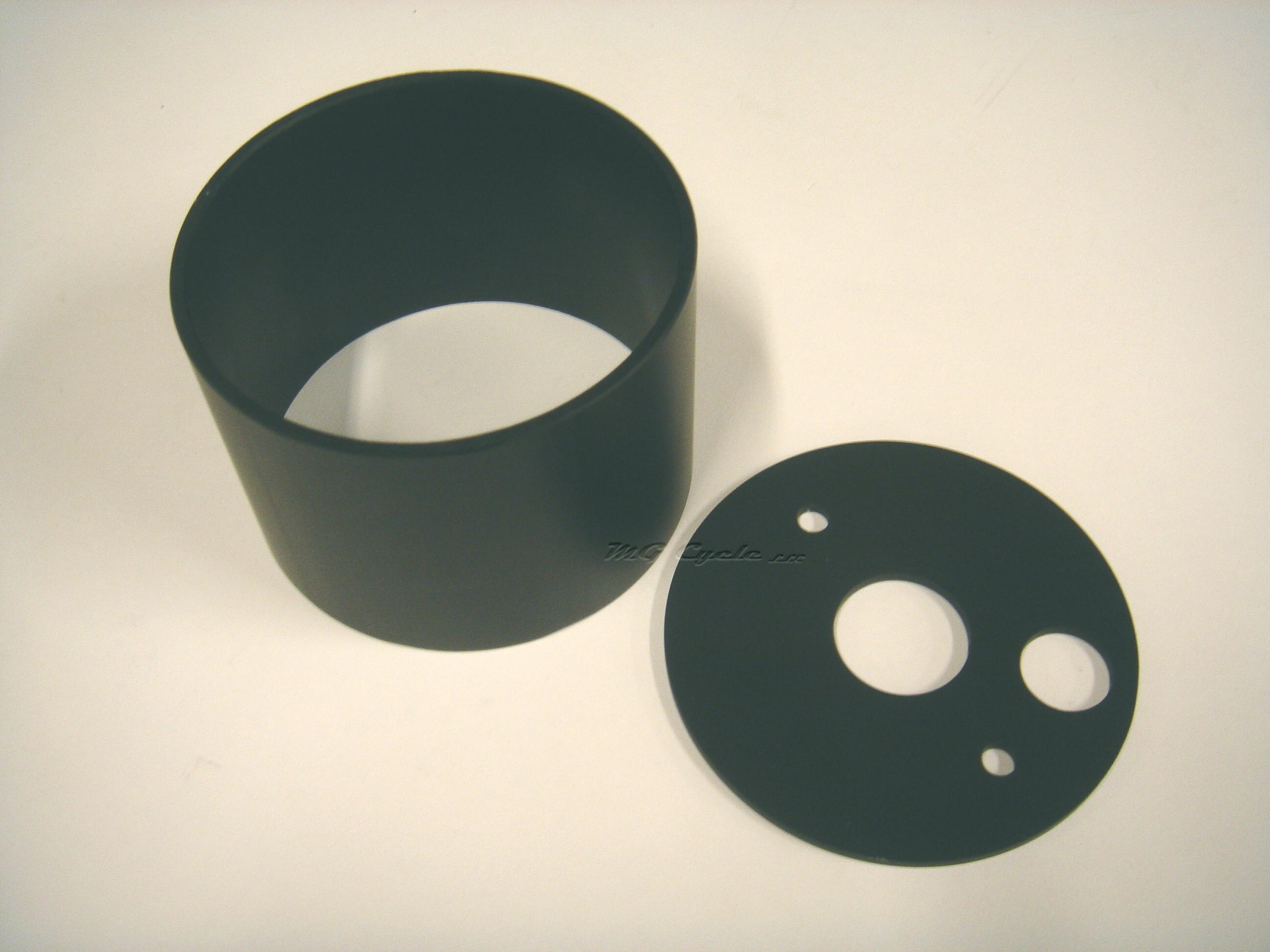 Aluminum gauge cup with base for 80mm Veglia, black