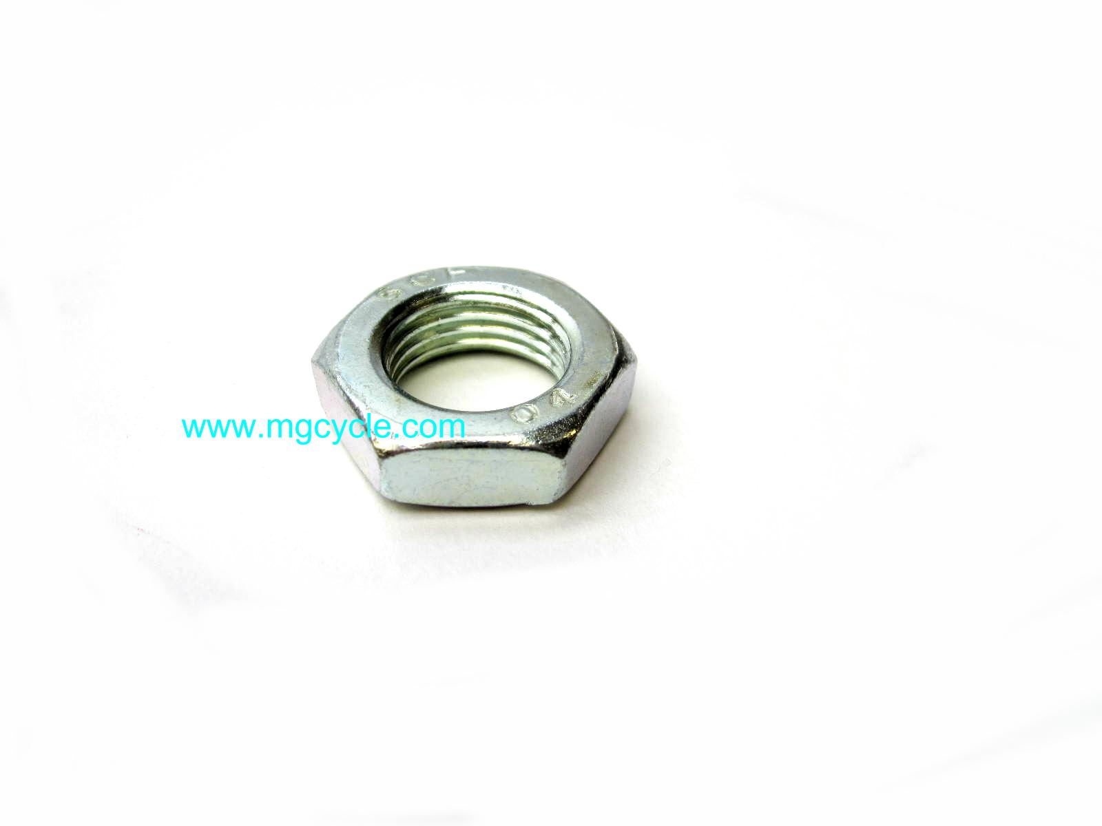 Axle nut, jam nut, M16 x 1.5, front axle many models