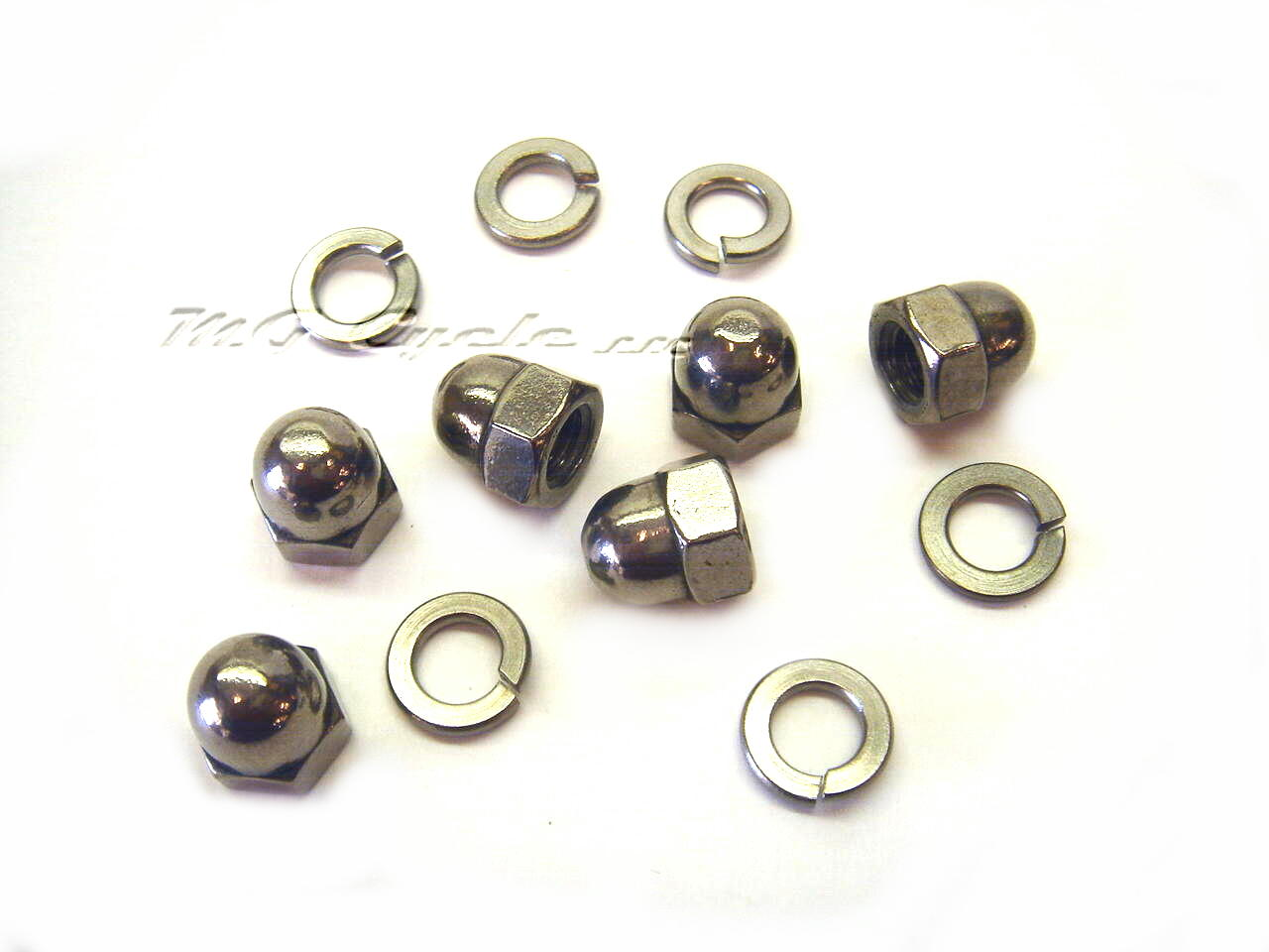 Stainless cap nut kit for transmission to engine on big twins