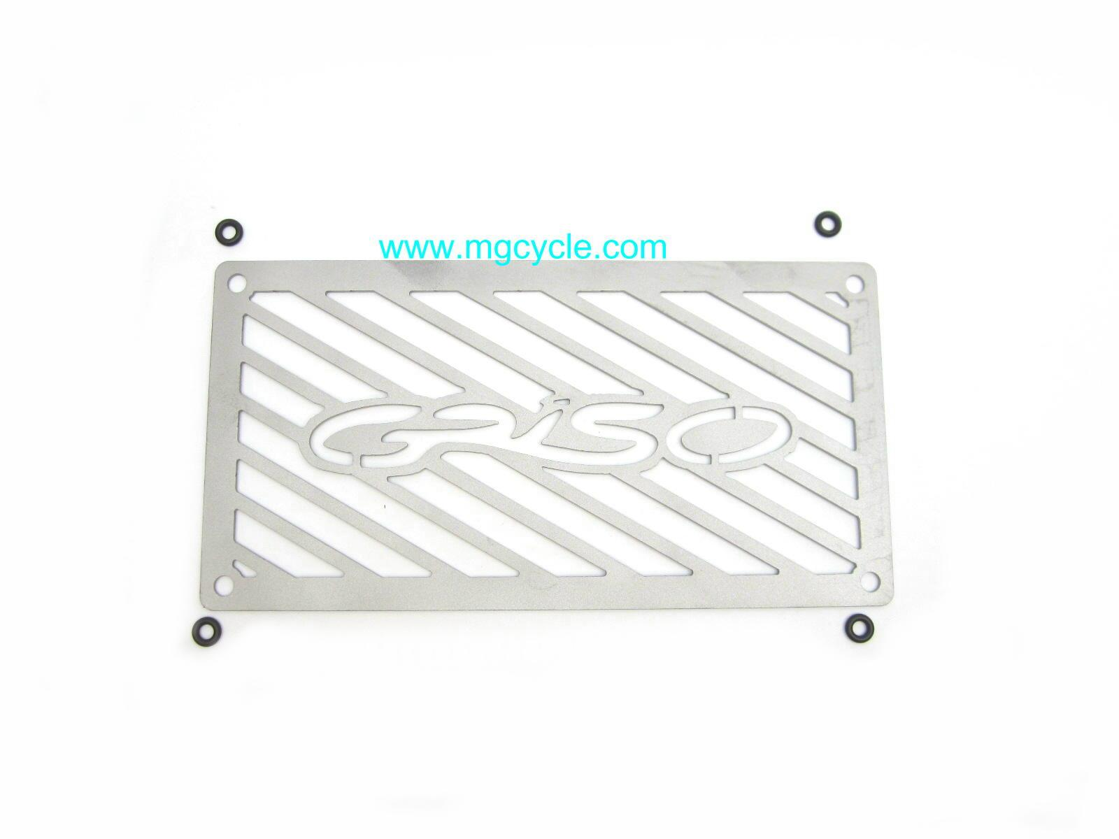 Stainless oil cooler cover for Griso