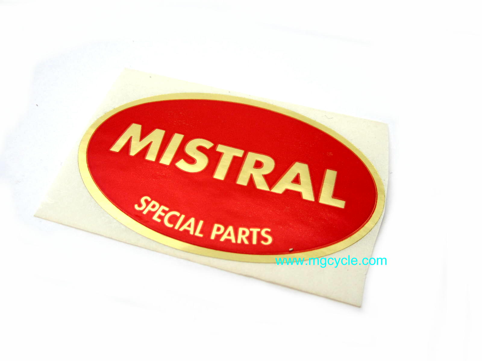 Mistral sticker, metal foil